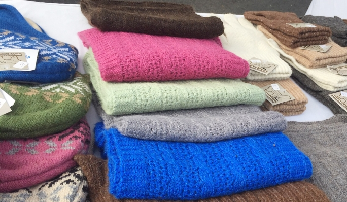 alpaca hats, scarves & gloves