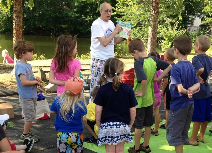 Meet Mr Mark by the pond for storytime